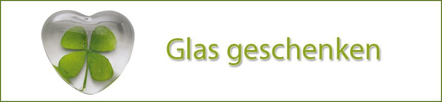 Glas geschenken