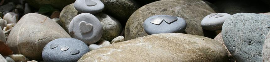 Mini hart stenen