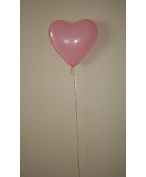 Heliumballon hart, rose.