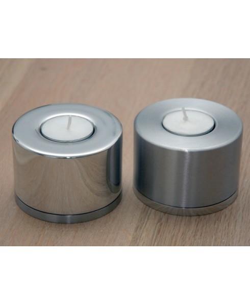 Waxinelicht los glanzend met satijnen onderkant. (urn)