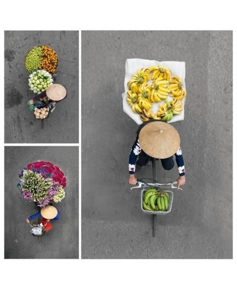 Kaartenset Vendors from above