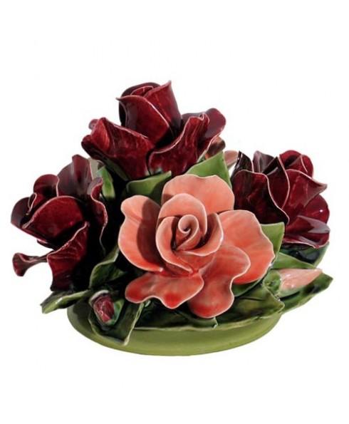 Boeket rozen gemengd.