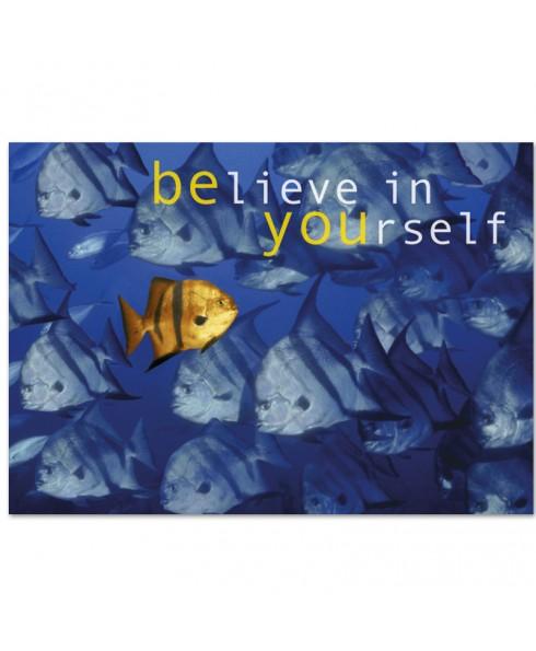 Postkaart believe in yourself