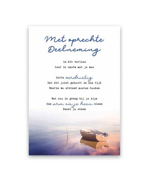 Met oprechte deelneming postkaart