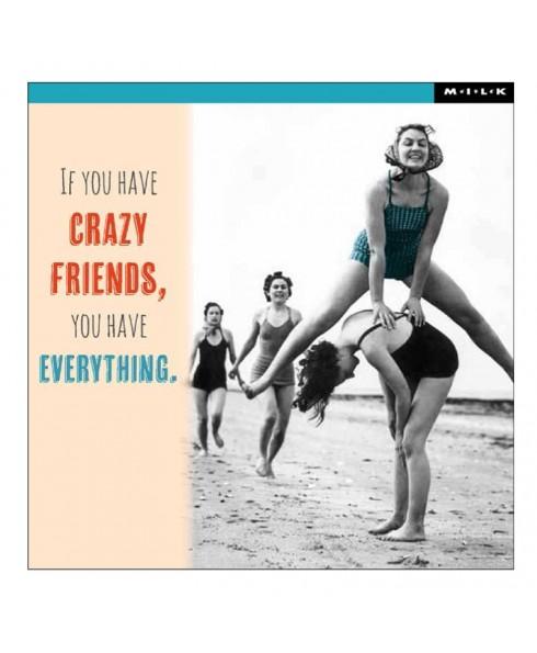 Wenskaart crazy Friends