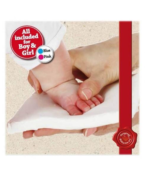 Voet Of Handafdruk Van Uw Baby In Marshmallow Klei