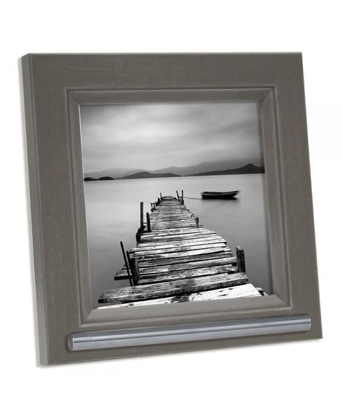 Fotolijst met asbuisje, grijs/bruin