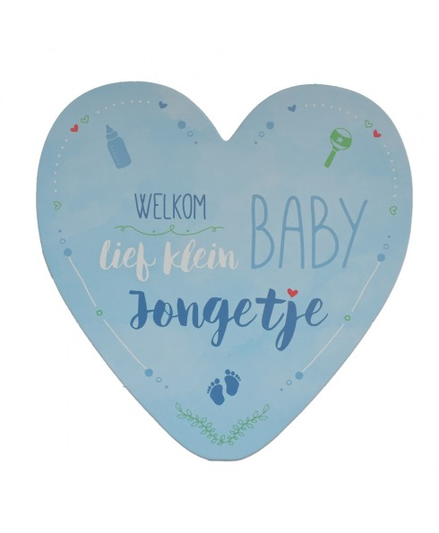 Geboortekaart jongen - Hart - Wenskaart