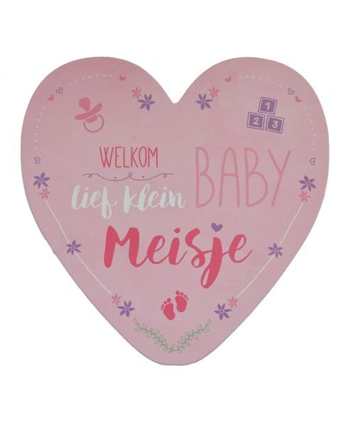 Geboortekaart meisje - Hart - Wenskaart