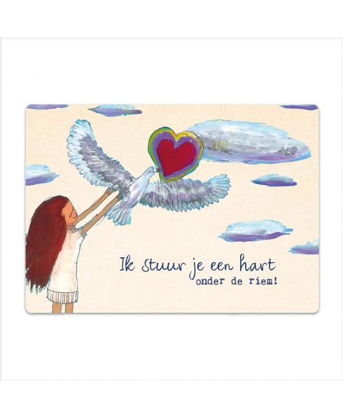 Hart onder de riem Postkaart