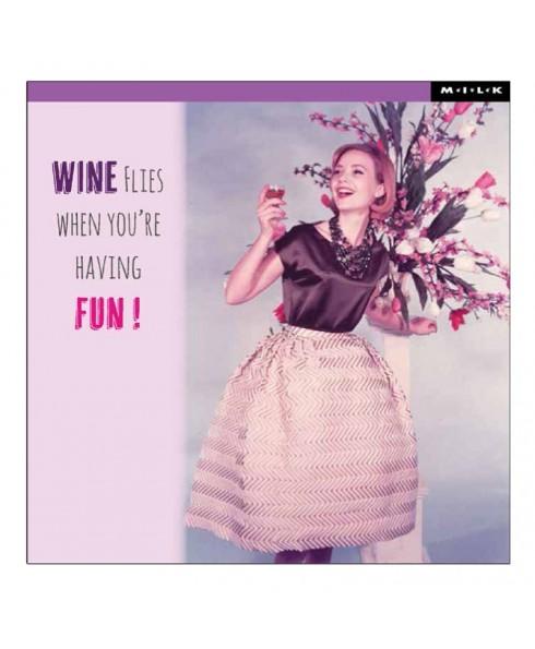 Wenskaart wine flies