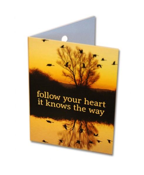 Klein wenskaartje follow your heart