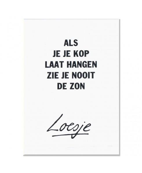 Postkaart Loesje zon