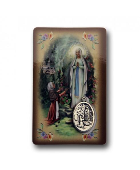 Gebedskaartje Lourdes