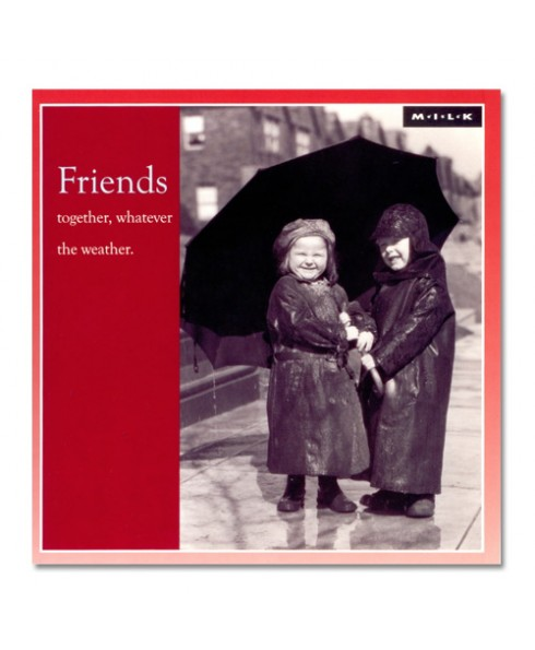 Friends together, whatever the weather.