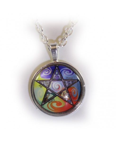 Pentagram elementen amulet