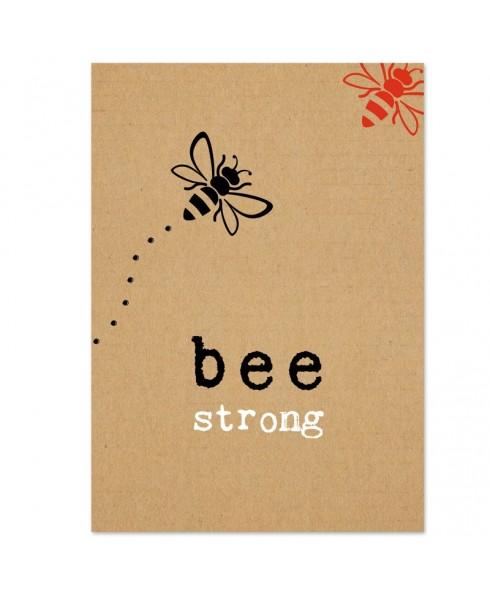 Postkaart bee strong