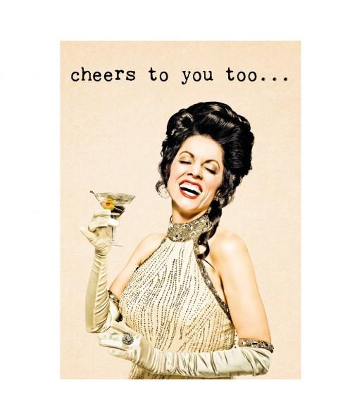 Postkaart cheers