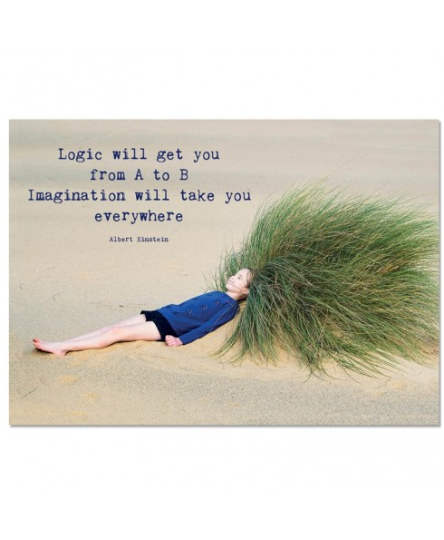 Postkaart; Imagination will take you everywhere