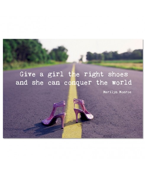 Postkaart; give a girl the right shoes