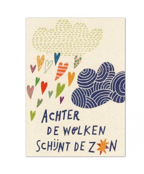 Postkaart achter de wolken