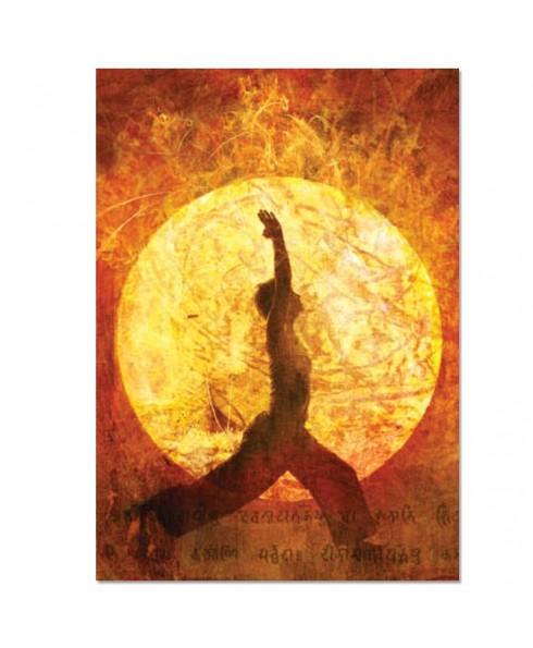 Postkaart yoga maangroet
