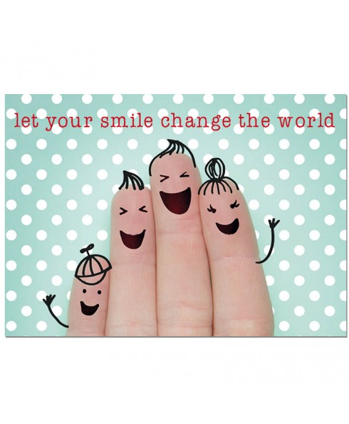 Postkaart Smile change the world