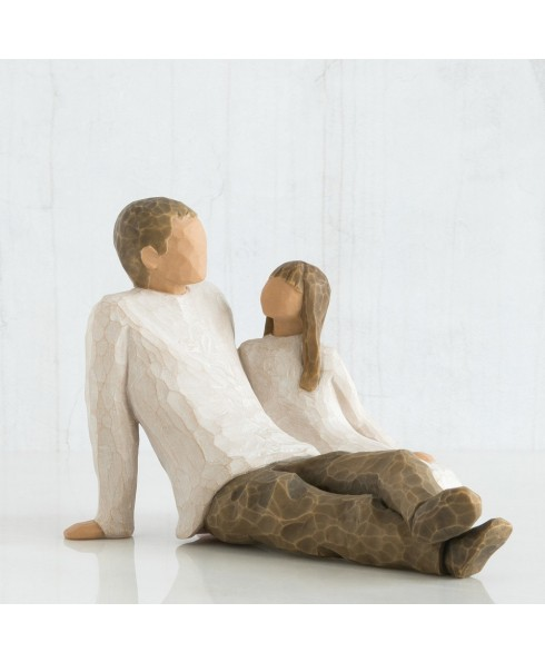 Beeld vader en dochter