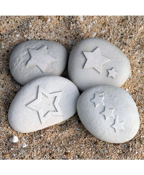 Ster steentjes wit