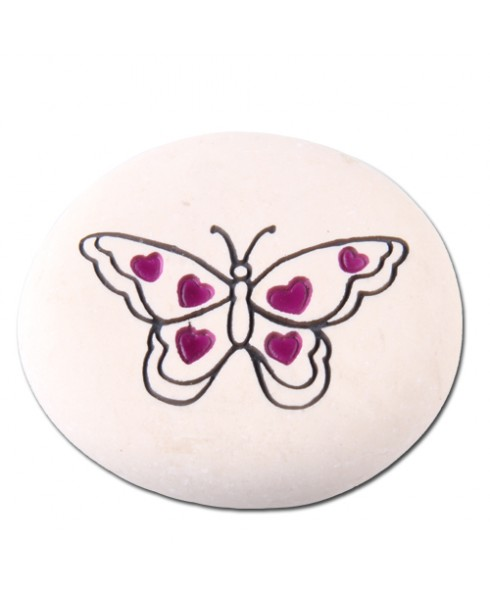 Vlindersteen hartjes paars