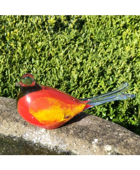 Decoratievogels groot, rood.