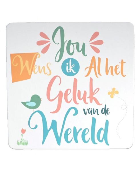 Gelukswens - Happy - Wenskaart