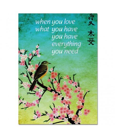 Postkaart When you love