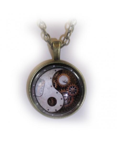 Yin yang tandwiel amulet