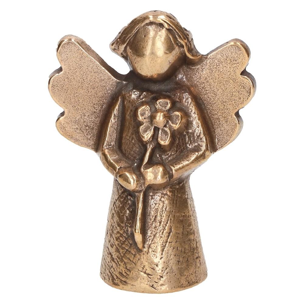 Bronzen Engelen Beelden.Engel Bloem Brons