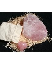Rozenkwarts hart en steen.