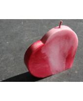 Hart kaars klein, rood.