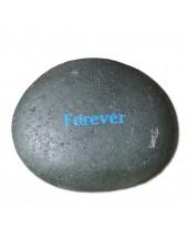 Forever blauwe tekst