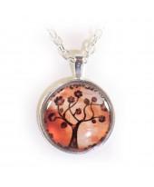 Levensboom rood amulet
