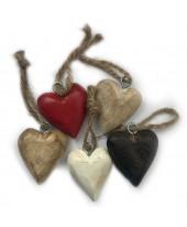 houten hart hanger