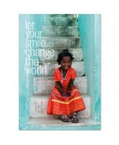 Postkaart  Your smile change the world