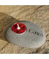 Stenen waxinelicht Love
