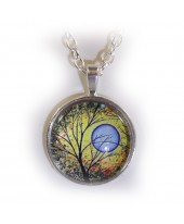 Levensboom blauwe maan amulet