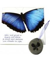 Vlinder wens kaart
