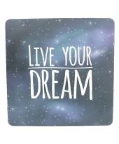 Live your dream - Happy - Wenskaart