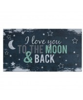 Love you to the moon - Happy - Wenskaart