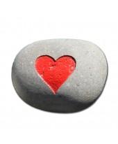 Hartsteen rood hart