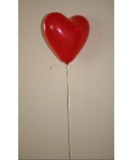 Heliumballon hart, rood.