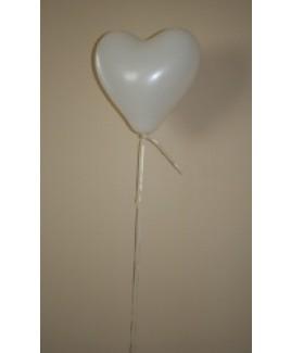 Heliumballon hart, wit.
