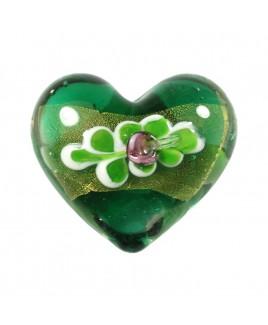 Barok hart groen glas